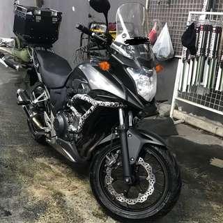 Honda CB400X w Legal & Loud Moriwaki Exhaust