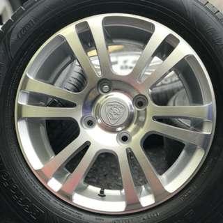 Original sports rim waja cps 15 inch tyre 90%