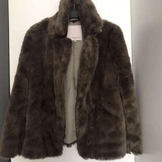 Aritzia faux fur jacket