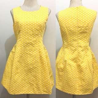 Yellow Dotted Dress