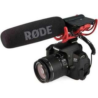 Rode VideoMic With Rycote Lyre Suspension System. ORI BM/Kualitas Ori Non Resmi. Warna : Hitam. Berat : 950gr.