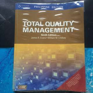 Total Quality Management by James Evans and William Lindsay