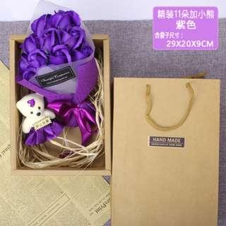 浪漫香皂玫瑰花束礼盒