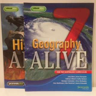 TEXTBOOK SET: Geography Alive 7 + History Alive 7