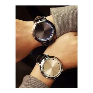 PO 2minggu Jam tangan LED touch screen anti air strap kulit PU
