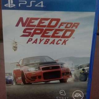 BD PS4 Game : NEED FOR SPEED PAYBACK
