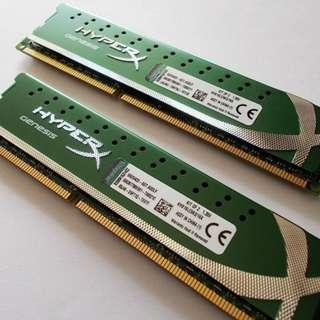 8GB (2 x 4GB) Kingston HyperX Genesis DDR3L-1600 Desktop RAM
