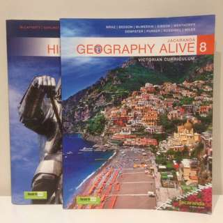 TEXTBOOK SET: Geography Alive 8 + History Alive 8