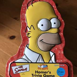 Simpsons trivia tin