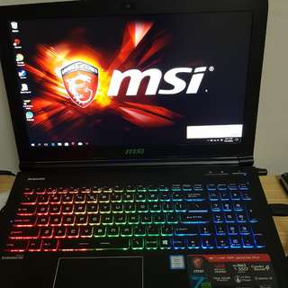 MSI Gaming Laptop 100% NEW!!!  GTX1060 8GB RAM 126SSD 1TB HHD(价钱可以商!!!)