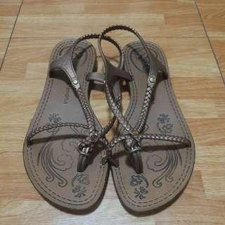 Grendha Bronze Rubber Sandals