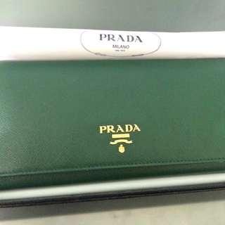 Emerald Green Prada Wallet