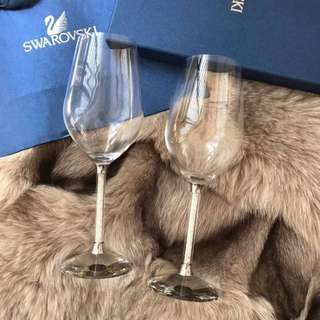 Swarovski wine glasses
