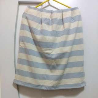 日本Anysis藍白間條裙