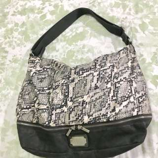 Armani Exchange Snake Skin Pattern Hobo Bag
