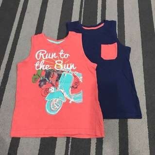 Preloved Mothercare singlet set of 2, size 5-6y