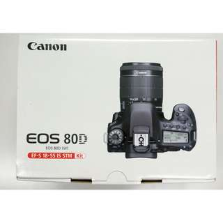 Canon 80D Kit Set Brand New