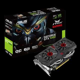 ASUS Strix GeForce® GTX 1060 OC edition 6GB GDDR5 Model STRIX-GTX1060-DC2O6G