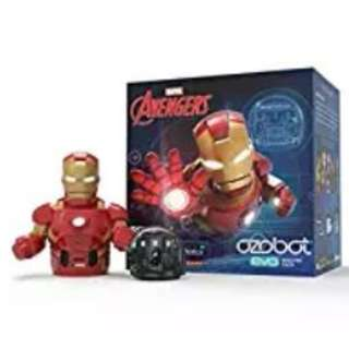 Ozobot Evo Starter Pack, - connectable smart skin, Iron Man, Marvel's The Avengers (Limited Edition)