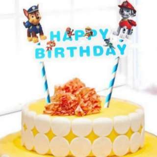 Paw patrol Happy birthday Cake Topper for Party Decoration/Figurine
