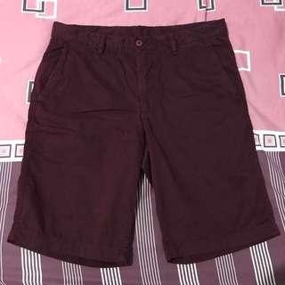 Celana pendek chino uniqlo cowo size m
