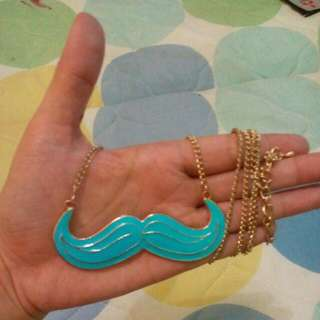 New Mustache Orange,blue,black