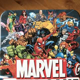 Marvel trivia game tin