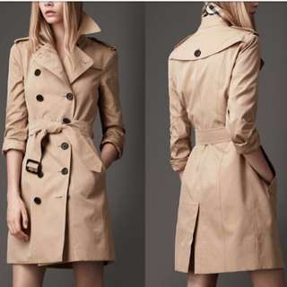 Burberry slim fit long trench coat
