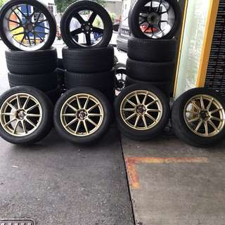 "NO KERB RASH Rota GRA 18"" Gold Rim with Tyre On!!"