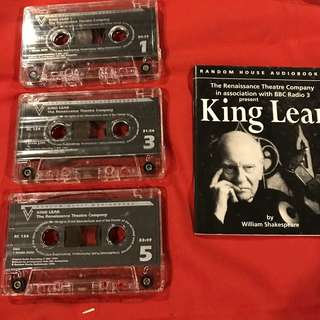 King Lear (with John Gielgud and Kenneth Branagh) by William Shakespeare (audio cassette recording)