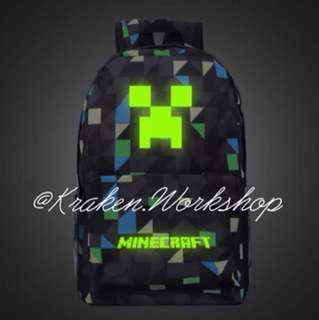 MINECRAFT Glow in the dark bagpack accessories