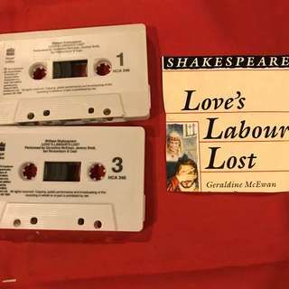 Love Labour Lost (with Derek Jacobi) by William Shakespeare (audio cassette recording)