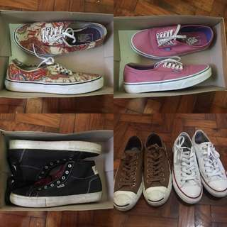 SHOES FOR STEAL (VANS,  DVS,  CONVERSE)