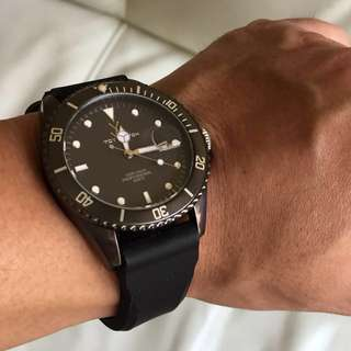 Toywatch All-Black PVD Quartz Watch