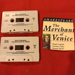 The Merchant of Venice by William Shakespeare (audio cassette recording)