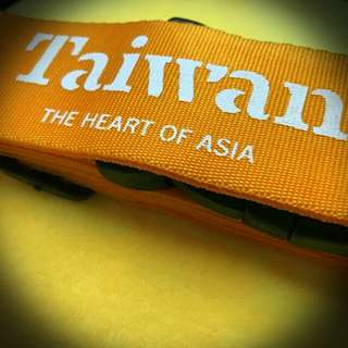 全新台灣Taiwan the heart of Asia 橙色行李帶