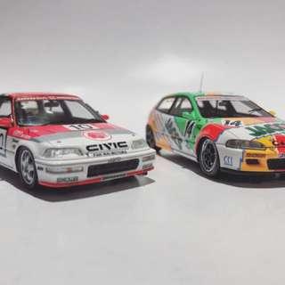 Spark 1:43 Honda Civic EF 澳門賽車冠軍 本田思域