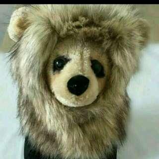 🚚 寵物搞怪獅子頭套 寵物變身頭套 寵物衣服 貓衣服狗衣服