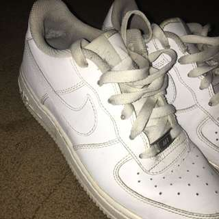 White Nike Air Force 1s Lows