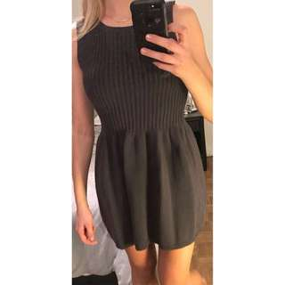 Grey American Apparel sleeveless ribbed knit sweater dress