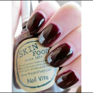 SKINFOOD NAIL VITA RE 106 BLACK CHERRY