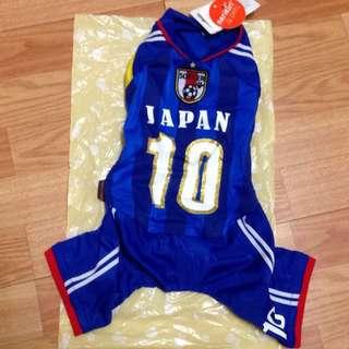 🚚 全新 日本品牌 日本購買 creative yoko captain soccer 足球隊狗衣服寵物衣小型四腳連身