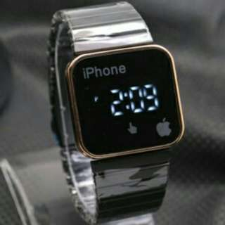 JAM TANGAN APPLE WATCH IPHONE RANTAI SLIM  BLACK ROSE GOLD JAM TANGAN MURAH AP004