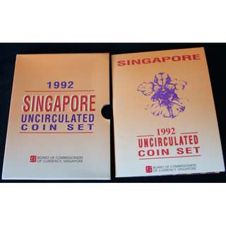 1992 Singapore Uncirculated Coin Set with Original Sleeve (MINT)