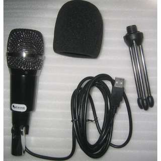 Desktop USB Microphone with stand and sponge . Podcast mic