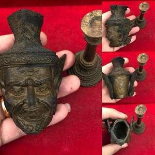 !($468)! - (PREORDER) - Thai Amulet - Rare Sian Poo Lersi Sing Saming Prai (Head) - Bucha - Lp Kalong - Thai Amulets
