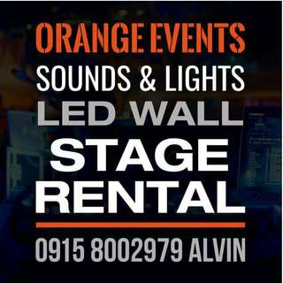 Sounds, Lights, Stage and LED Wall for rent