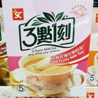 ✈大玩台灣代購✈台灣三點一刻玫瑰花果奶茶5入/盒