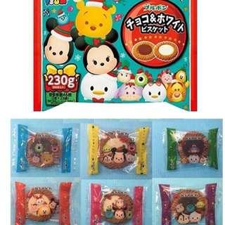 北日本 bourbon 迪士尼 TSUM TSUM 雙口味巧克力塔餅
