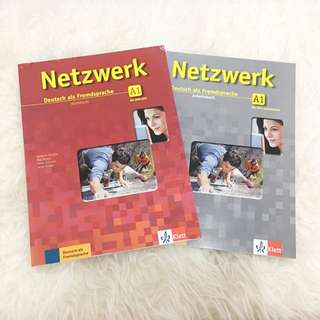 (+CD)Netzwerk A1 Textbook & Practice Book Buku Belajar Bahasa Jerman NEW